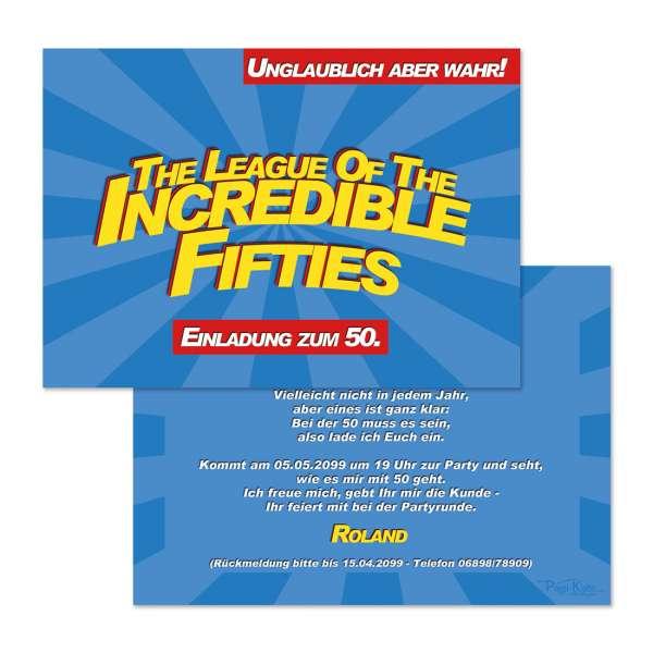 """Einladungskarten """"Incredible Fifties"""""""