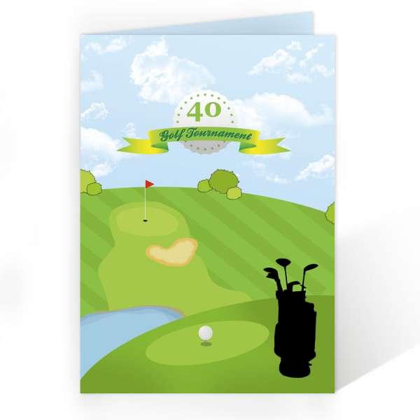 Einladungskarten für Golfer