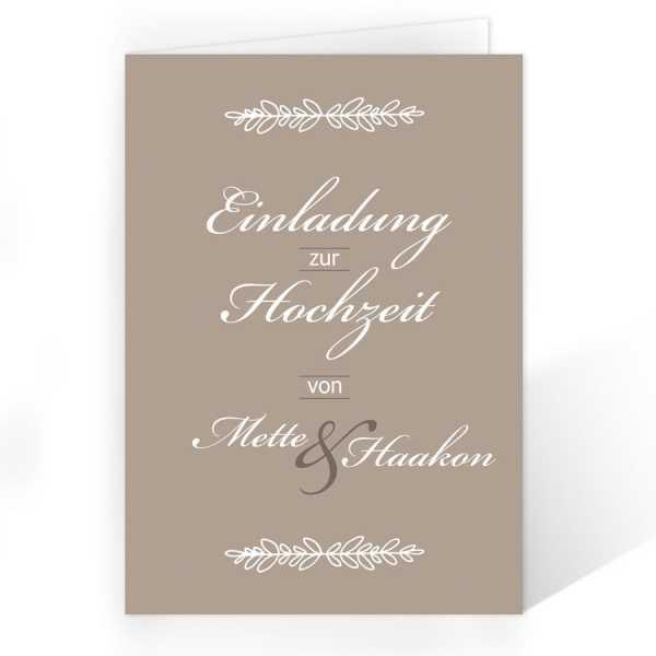 Einladungskarten Zur Hochzeit Vintage