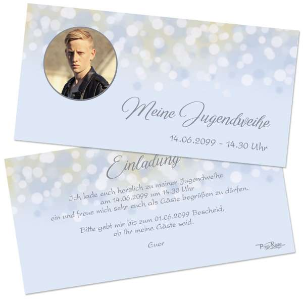 Einladungskarten zur Jugendweihe Konfirmation Kommunion