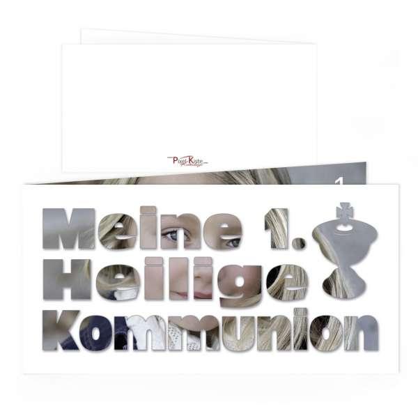 einladungskarten 1 heilige kommunion erstkommunion foto. Black Bedroom Furniture Sets. Home Design Ideas