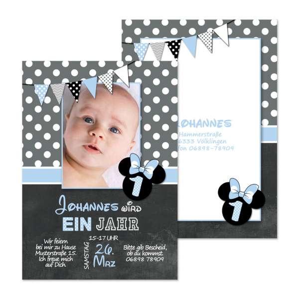 Einladungskarten zum Kindergeburtstag Micky Maus für Jungen