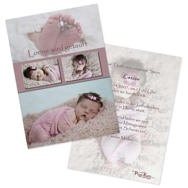 Einladungskarten Taufe Oder Namensweihe Lorine Loras
