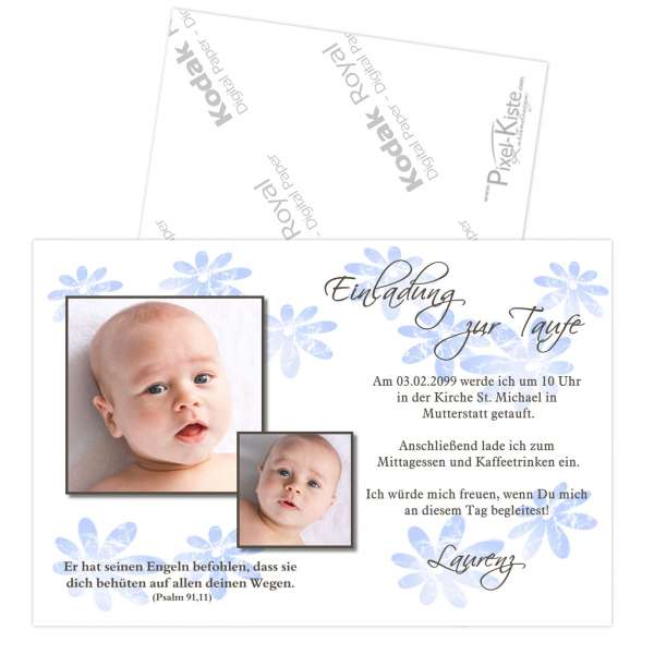 Einladungskarten Zur Taufe Rosa Oder Blau Laralaurenz