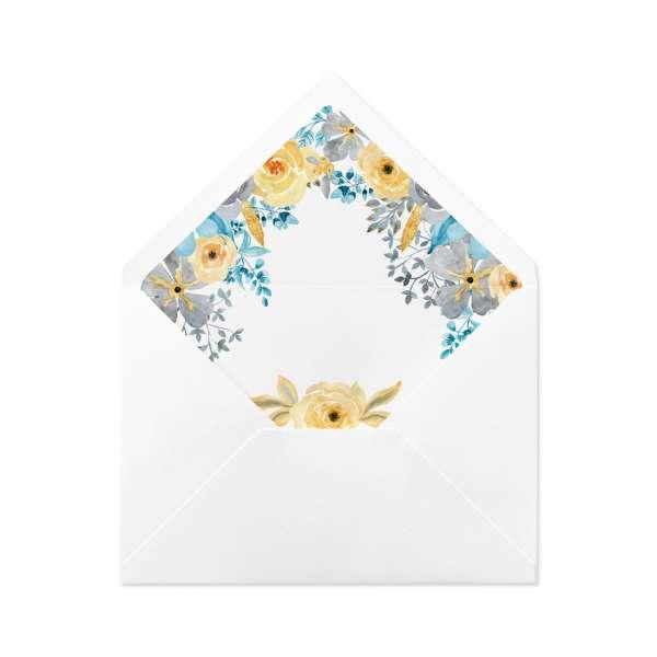 DIY Envelope Liner Umschlag-Liner Hochzeit bedruckt mit Blüten