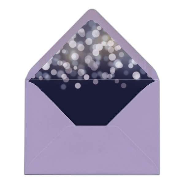 DIY Envelope Liner Briefumschlag-Inlett Hochzeit gedruckt Nightblue