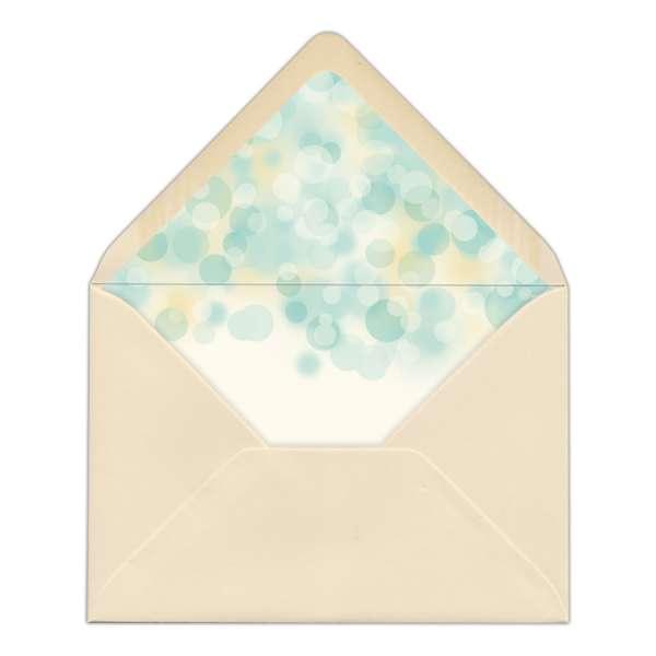 DIY Envelope Liner Hochzeit gedruckt smaragdgold