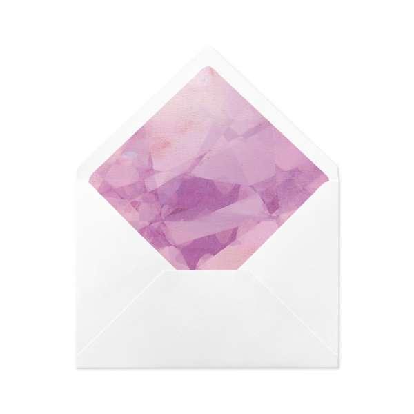 DIY Envelope Liner Briefumschlag-Inlett Hochzeit bedruckt