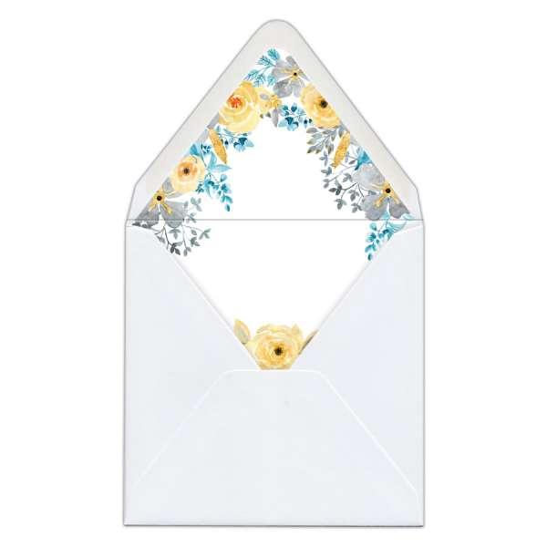 Envelope Liner Umschlag-Liner Hochzeit gedruckt