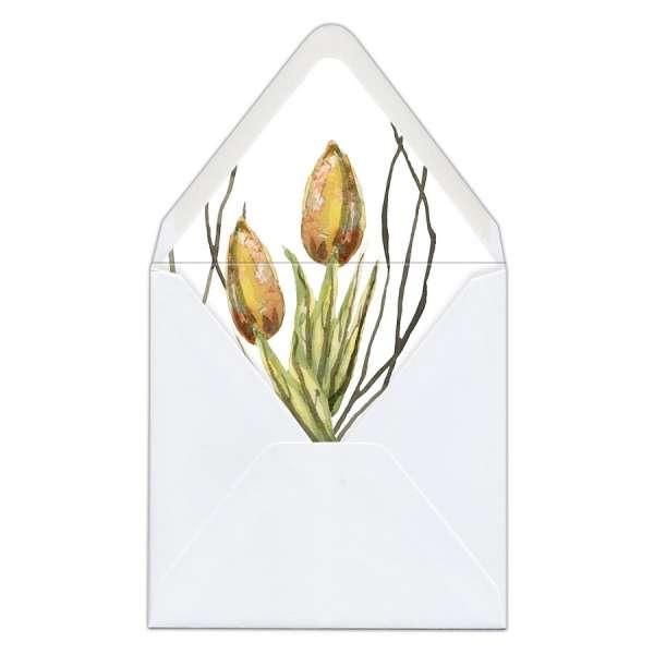 Umschlag-Liner Briefumschlag-Inlett Hochzeit watercolor gedruckt