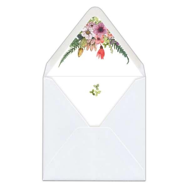 """Envelope Liners Umschlag-Liner Briefumschlag-Inlett Hochzeit gedruckt """"Carla & Nikolas"""""""