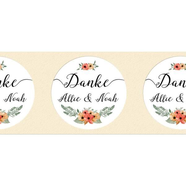 runde Etiketten Gastgeschenke Hochzeit Marmeladenglas