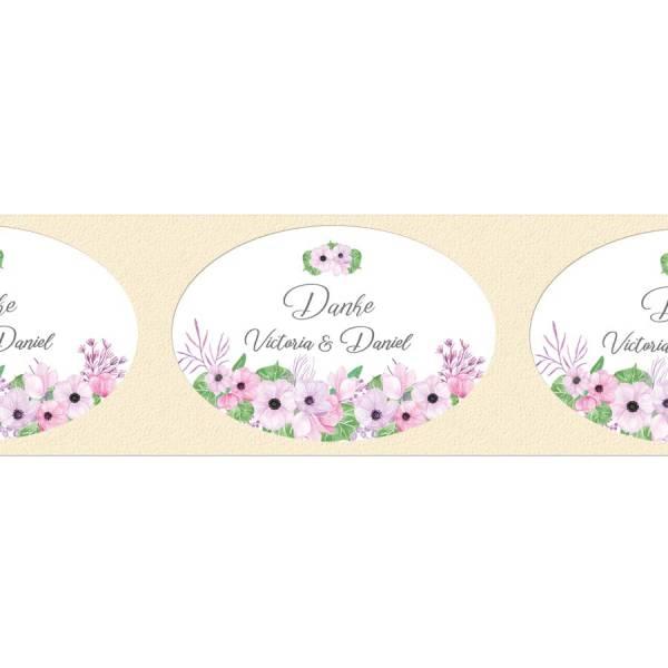 Klebeetiketten Hochzeit giveaway Boho Blumen drucken