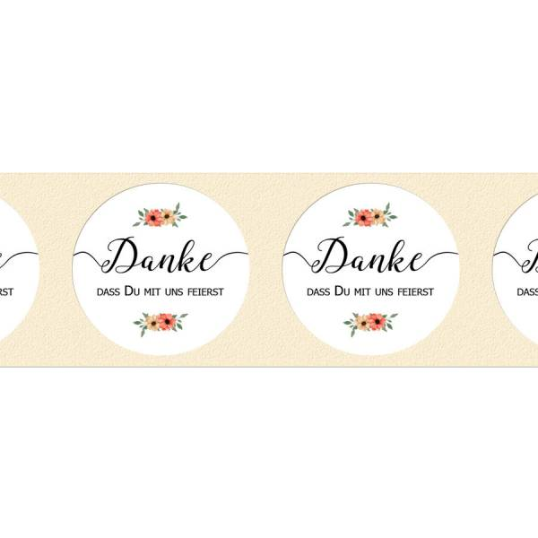 runde Etiketten zur Hochzeit für Gastgeschenke drucken