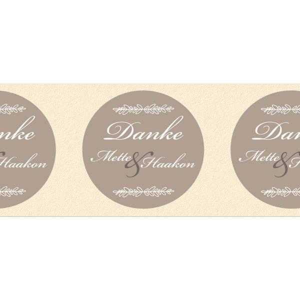 Etiketten rund Hochzeit Gastgeschenke drucken lassen