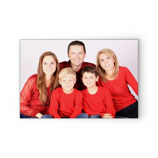 Familienbild auf Fotoleinwand drucken lassen