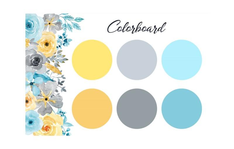 Das Colorboard zeigt Farben, die mit dieser Kartenserie harmonieren.