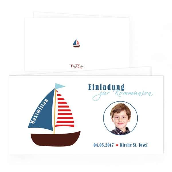 Einladungskarten Kommunion Boot
