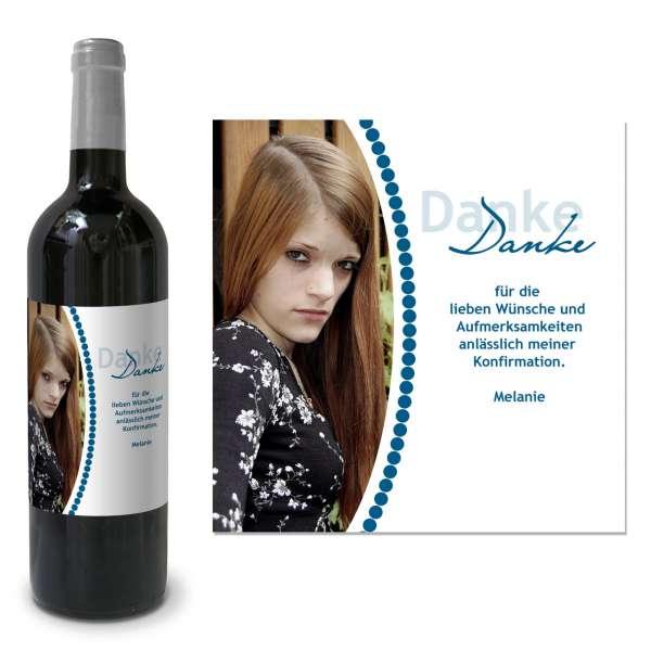 Flaschenetikett Weinetikett für Kommunionswein bedrucken