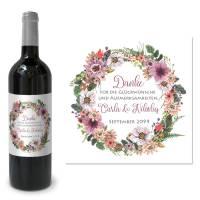 Flaschenetikett für Gastgeschenke zur Hochzeit drucken lassen