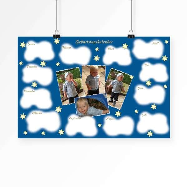 Geburtstagskalender Fotokalender Sternenhimmel