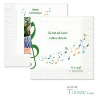 individuelle Servietten zur Kommunion «Ein Ton in Gottes Melodie»