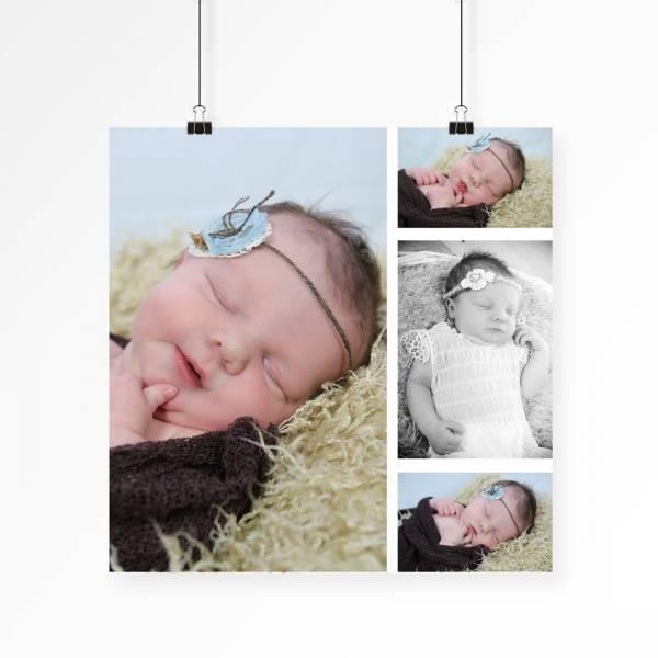 Poster-Collage mit Babyfotos