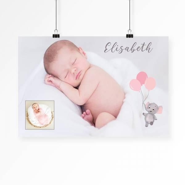 Fotocollage Newbornfotos für Mädchen