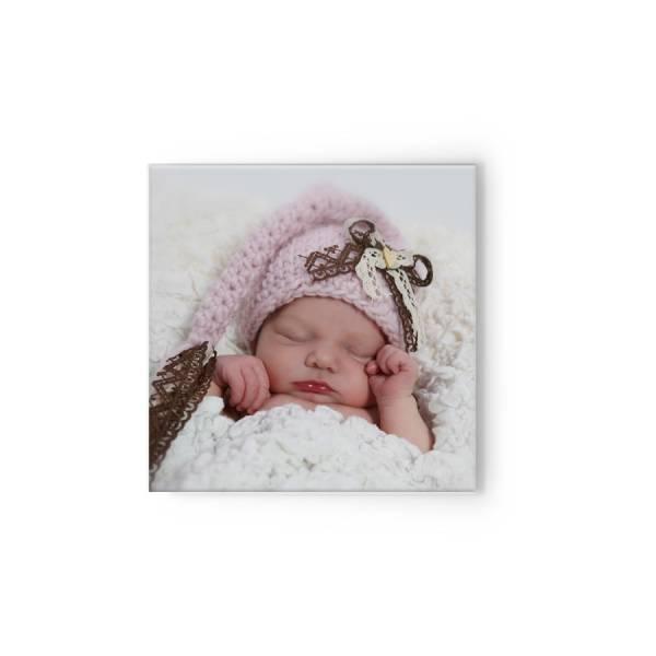 quadratische Fotoleinwand Baby