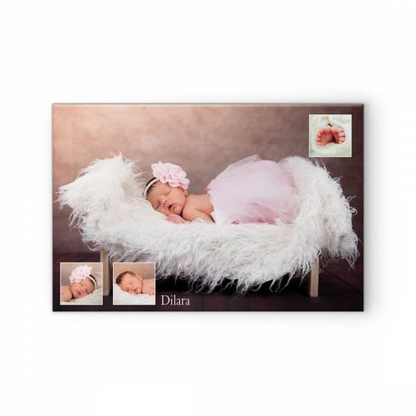 Fotoleinwand Fotocollage mit Babyfotos