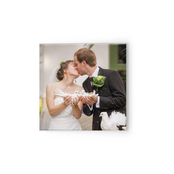 quadratische Fotoleinwand Hochzeit drucken lassen