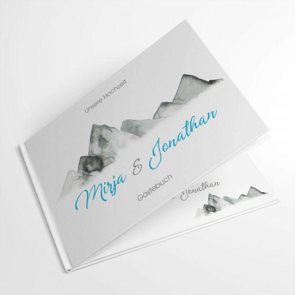 Gästebuch für die Hochzeit in den Bergen online drucken lassen