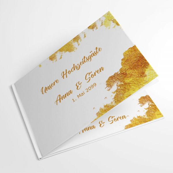 Gästebücher Hochzeit individuell gelbgold A4 online kaufen