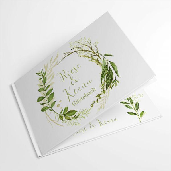 Gästebuch zur Hochzeit Greenery Wedding gestalten lassen