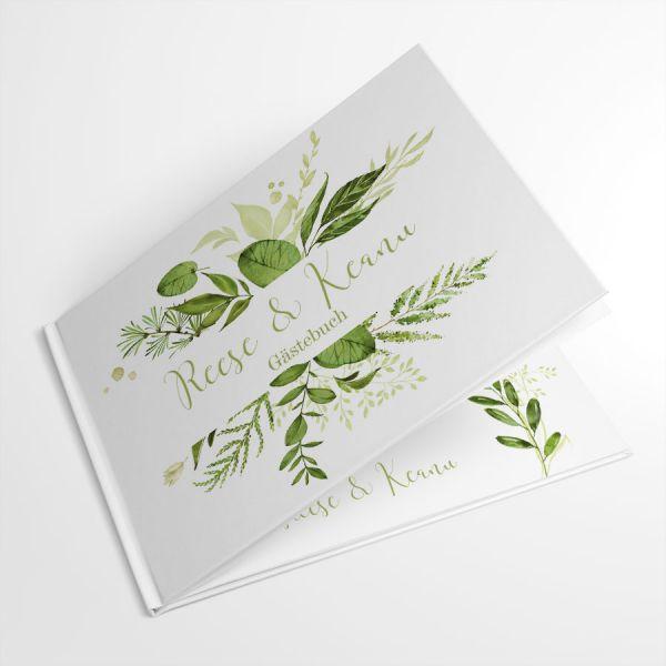 Greenery Wedding Gästebuch zur Hochzeit drucken lassen