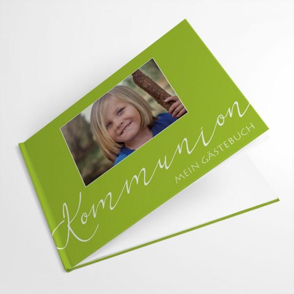 Gästebuch zur Kommunion Konfirmation mit Foto drucken Wunschfarbe