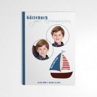 Gästebuch Konfirmation Erstkommunion mit Jesus im Boot
