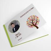 personalisiertes Gästebuch zur Erstkommunion Baum mit Händen