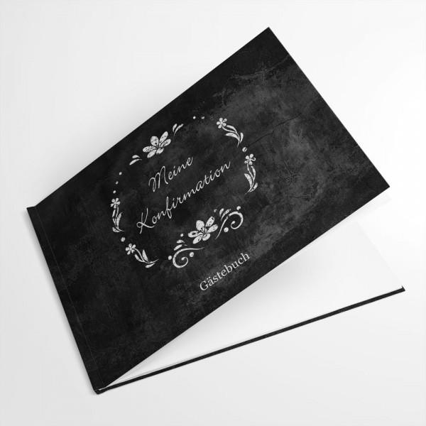 individuelles Gästebuch Konfirmation Erstkommunion Jugendweihe Chalkboard Schiefer