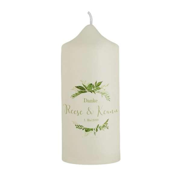 Gastgeschenk Dankeskerze Greenery Wedding jetzt bestellen