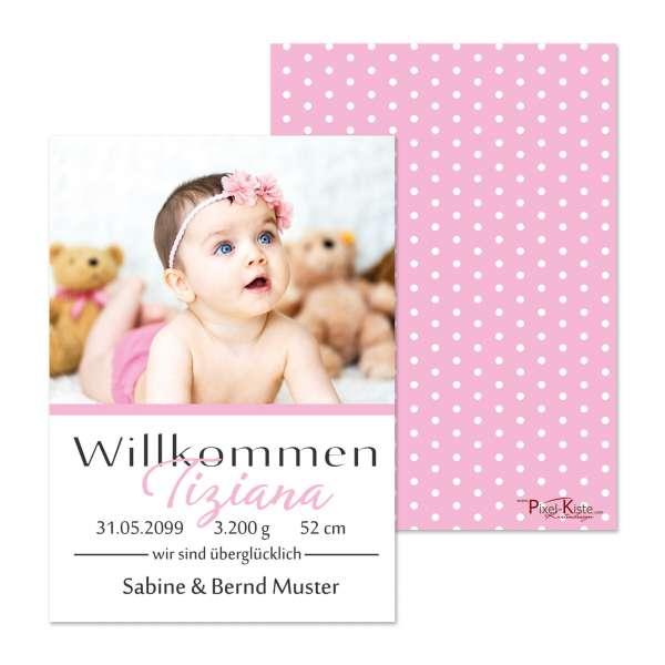 Geburtsanzeige für Mädchen drucken