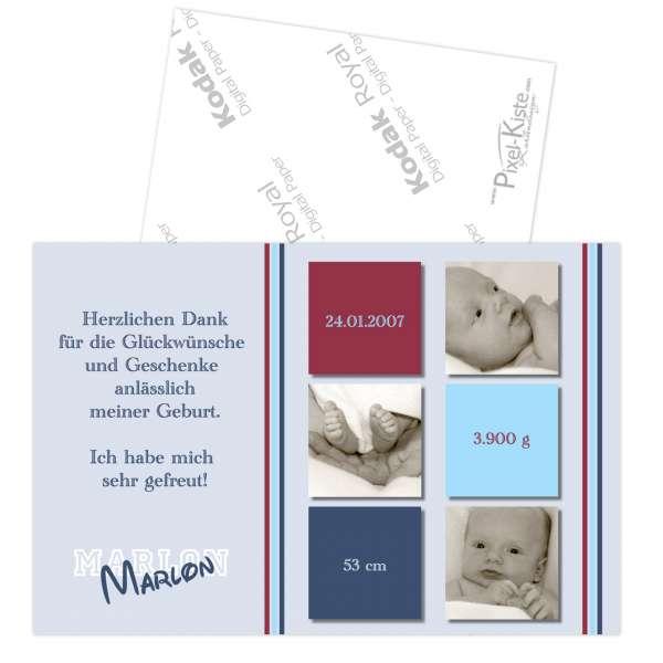Geburtsdankeskarten