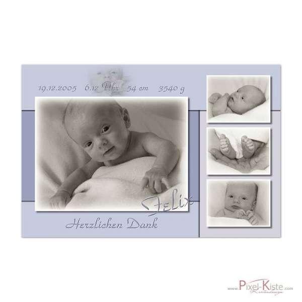 Dankeskarten Baby