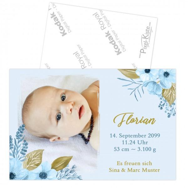Geburtskarten aquarell Junge Mädchen Geburtsanzeige