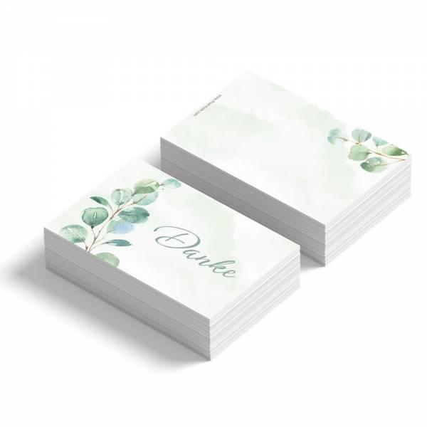 Geschenkanhänger /Dankeskarte zur Hochzeit mit Eukalyptuszweigen drucken lassenGeschenkanhänger /Dankeskarte zur Hochzeit mit Eukalyptuszweigen drucken lassen