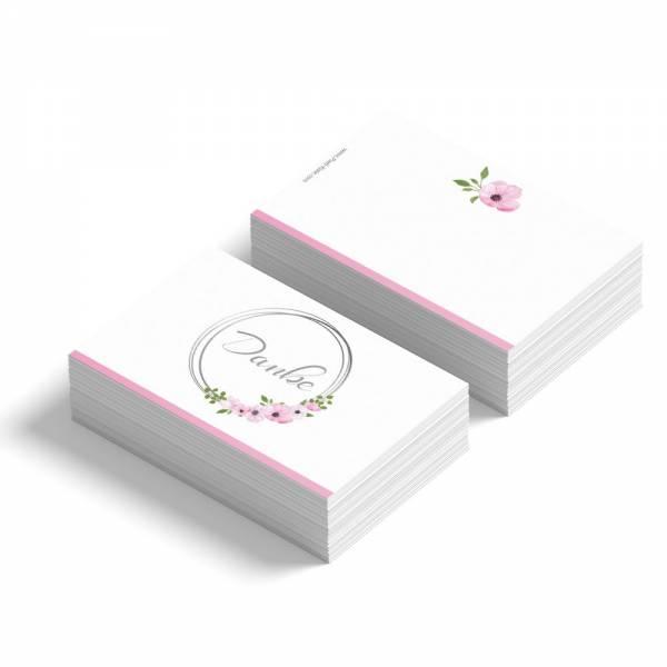 Geschenkanhänger /Dankeskarte für die Hochzeit Blumen mit Rahmen online bestellen
