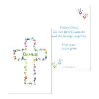 """personalisierter Geschenkanhänger Kommunion """"Kreuz aus Händen"""" online kaufen"""