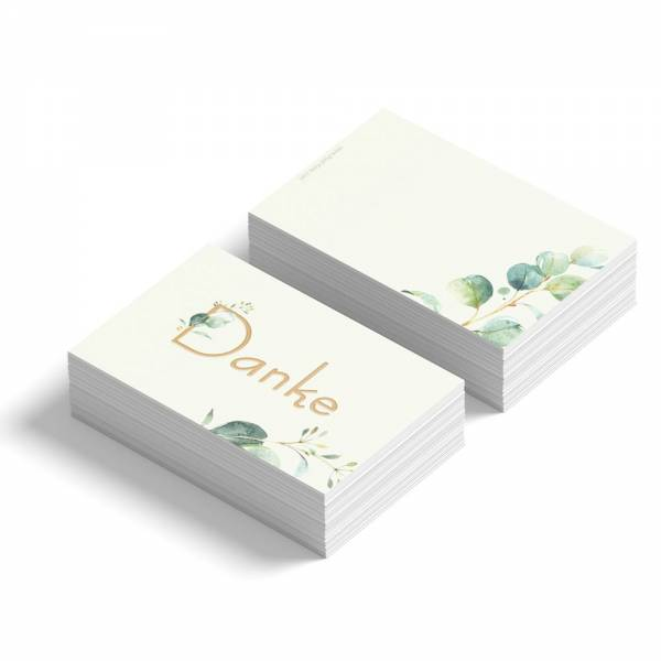 Dankeskarten/Geschenkanhänger zur Hochzeit Eukalyptus online bestellen