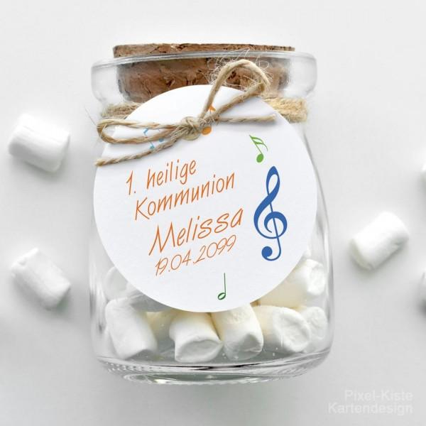 Geschenkanhänger für Gastgeschenke «Ein Ton in Gottes Melodie»
