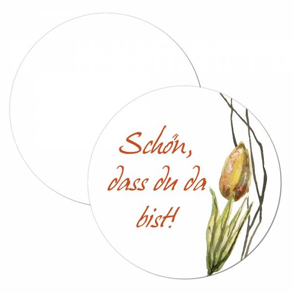 Geschenkanhänger mit Watercolor Tulpe online drucken